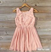 Vestido rosa pastel $55.00