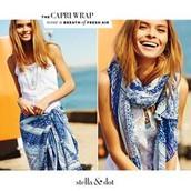 Blue Capri Wrap