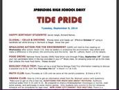 Tide Pride - School Bulletin