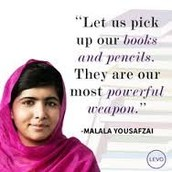 """""""books and pencils are our most powerful weapons"""""""