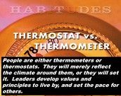 Habitudes - Thermostats and Thermometers