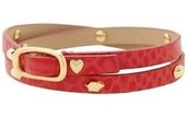 HUDSON LEATHER WRAP - RED