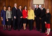 The City Council of Greensboro with the Mayor