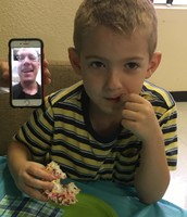 Virtual Donuts with Dad! So clever!
