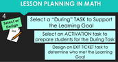 (4)Select or Design Math Tasks for the Lesson