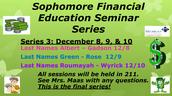 Sophomore Financial Education Series