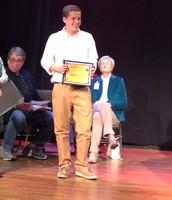 Sam C. earning his art award!