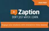 Dec. 15: Zaption -- create flipped video lessons