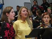 Senior Choir Members Cantoring