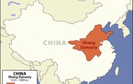 The map of Shang Dynasty