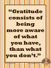 Monthly Focus - Gratitude