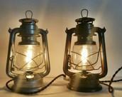 electric and lanterns light