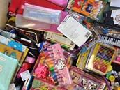 Pens, pencils, pencil cases