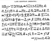 What are the other forms of writing the people of Egypt created