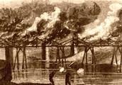 A burning Brigde