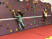 Our rock wall is open to all age groups.