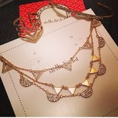 Pavé Chevron Necklace - Gold (Versatile 3 in 1)