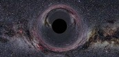 Representación de un agujero negro