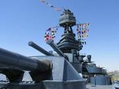 Battleship Texas's Deck !!