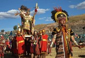 Inca ruler on parade