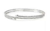 Radiance Coil Silver Bracelet