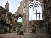 The ruins of Holyrood Abbey in August 2011.