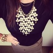 SOLD--Daliah Bib Necklace