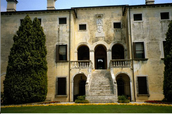^Villa Godi,^ Front Elevation and Detail of Entrance
