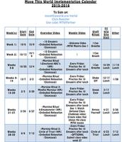 MTW Schedule