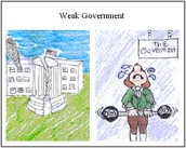 a weak central government