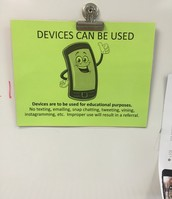 Device Use Sign in Bright Colors