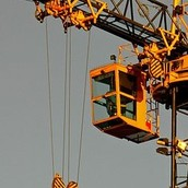 pulley on a crane