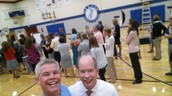 Mr. Budisch and I at staff photo