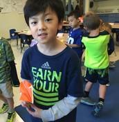 Jinu taught us origami!