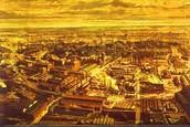 A birds eye view of a factory