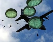 Parachutes in action today