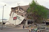 A building after the earthquake