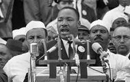 Martin Luther King Jr Giving his speech