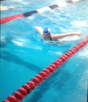 This is me swimming butterfly.