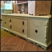 Antique Sideboard Bench