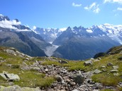 Alps(are the highest and most exstensive mountain range)