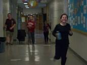 We love to RUN in the hallways!