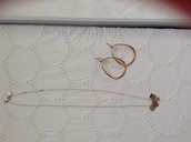 Love necklace, Goddess teardrops-rose gold( SOLD!!)
