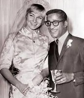 Sammy Davis and his wife May Brit