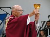 Fr. O'Mara celebrating the mass