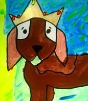 Second Grade Royal Pooch Painting