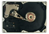 This is a dismantled hard disk