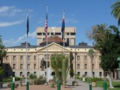 A picture of the capitol in Arizona