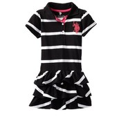 BLACK AND LINED POLO FROCK
