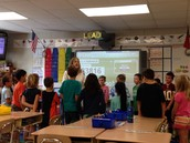 Shawn Maggiolo provides Ms. Boatwright's Class with fun challenges!